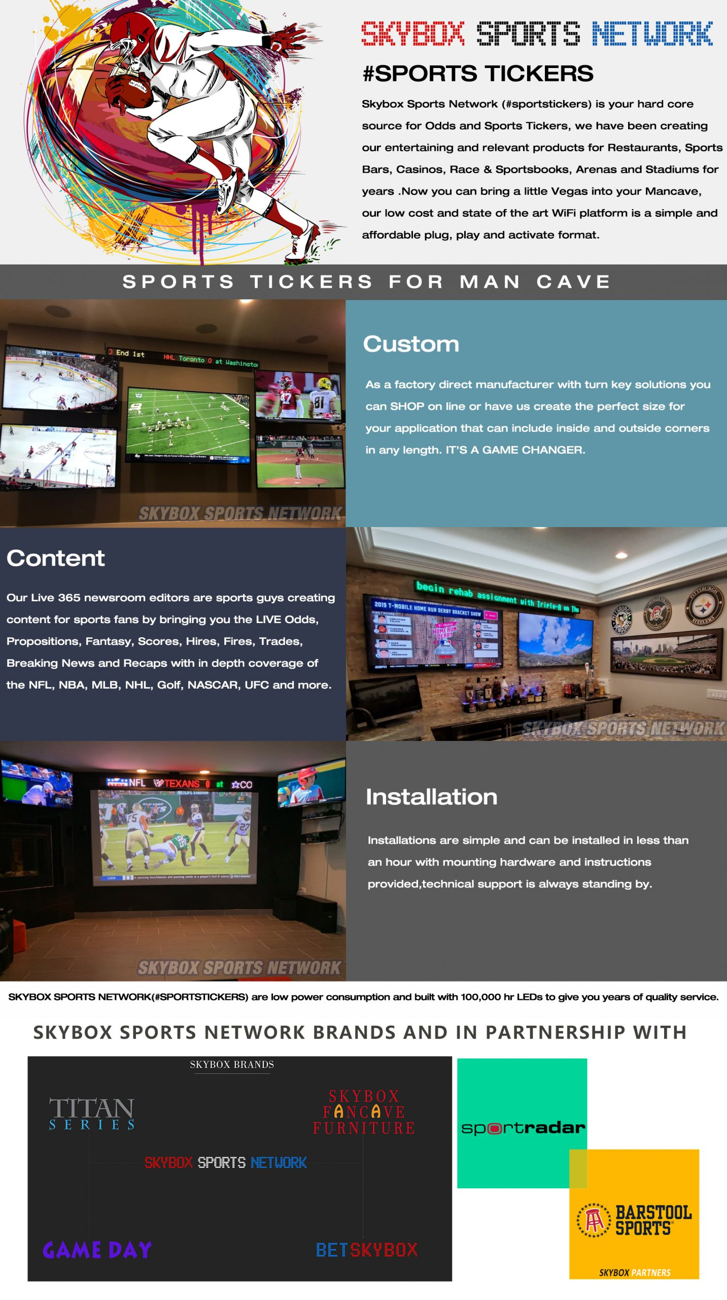 sports led ticker for home